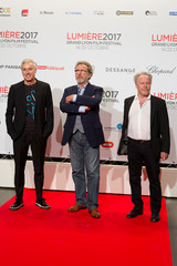 Directors Robin Campillo, Robert Guédiguian and Nicolas Philibert attend the opening of the Lumiere 2017 Grand Lyon Film Festival in Lyon