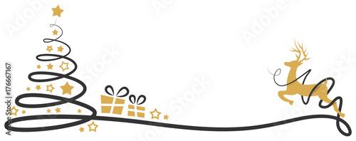 weihnachtsbaum mit rentier und geschenken stockfotos und. Black Bedroom Furniture Sets. Home Design Ideas