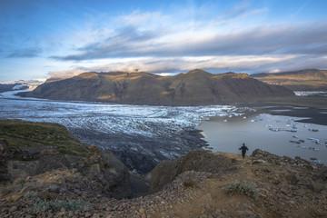Trekking in Skaftafell national park in Iceland