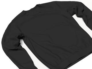 Black sweatshirt. 3d rendering