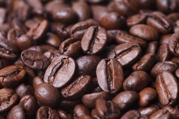 Stack closeup coffee bean background
