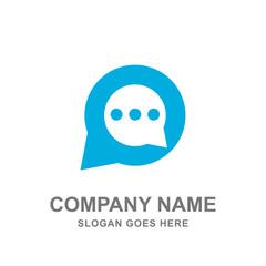 Message Bubble Chat Mobile Application Logo Vector