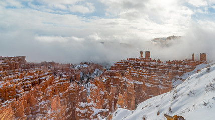 Snowy Amphitheater at Bryce Canyon