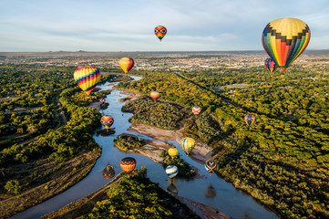 Poster Balloon Hot Air Balloons over the Rio Grande