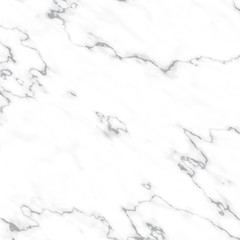 Realistic White Marble Vector Texture. Light Gray Stone Surface with Dark Gray Veins. Square Tile. Elegant Background.