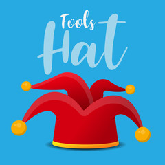 fools hat icon vector illustration.