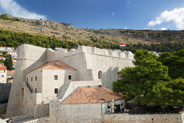Foto auf Acrylglas Befestigung Fort Revelin in the Old City of Dubrovnik, Croatia