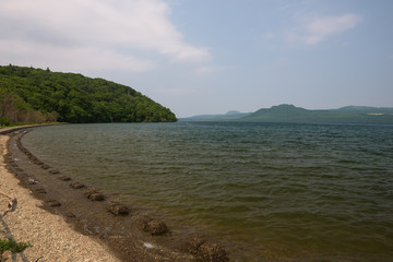 On the shore of Lake Kussharo, Hokkaido, Japan
