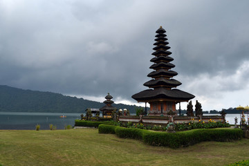 The serene Hindu temple by the lake. Pic was taken in Ulun Danu Batur, Bali