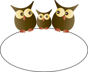 cute owl gamily header banner frame