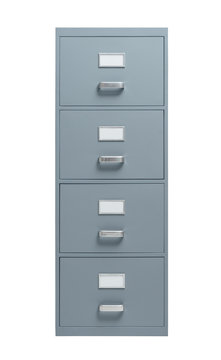 Filing cabinet on white background
