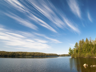 Lake at Algonquin Provincial Park on a sunny day