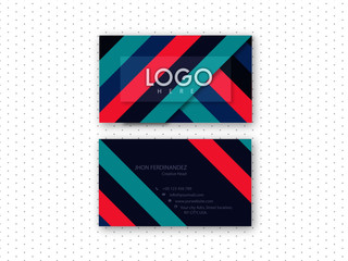 Modern abstract colored double side business card