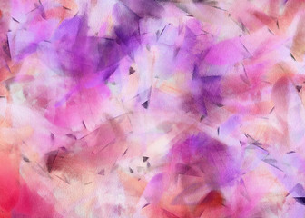 Abstract texture. Floral background. Painted on canvas watercolor grunge artwork. Digital hand drawn art. Modern artistic work. Good for printed pictures, design postcard, posters and wallpapers.