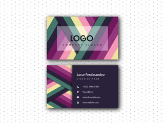 Modern Colored abstract Vector Double side Business card