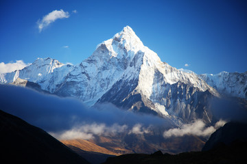 Amazing Ama dablam mountain.