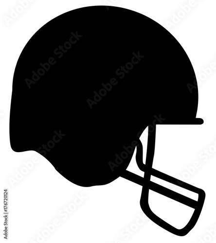 """""""Football Helmet Silhouette"""" Stock image and royalty-free ..."""