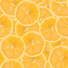 Seamless pattern made of lemon. Tasty juicy fruit texture