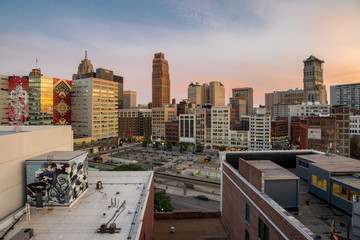 View of downtown Detroit, USA