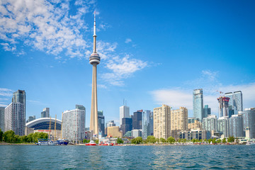 Foto op Plexiglas Toronto Skyline of Toront in Canada from the lake Ontario