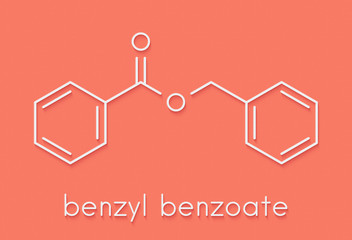 Benzyl benzoate drug molecule. Used as acaricide, scabicide, etc.  Skeletal formula.