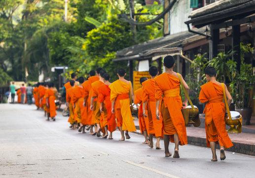 Laos, Luang Prabang by the Mekong River in Asia