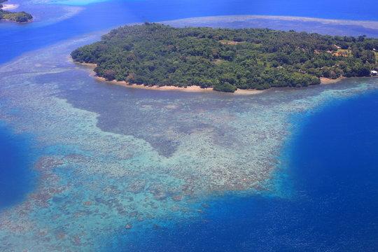 Beautiful Coral reefs coastline of Guadalcanal Island, Solomon