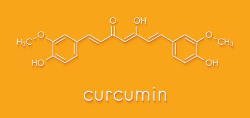 Curcumin turmeric spice molecule. Skeletal formula.