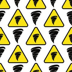 Tornado seamless pattern repeat orange color twister background danger tornade design vector geometric illustration.