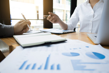 business audits calculating financial data investment fund at a workplace, wealth concept