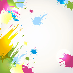 Vector multicolored splashes on a light background