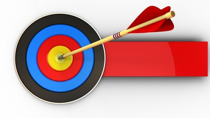 3d target with arrow hit