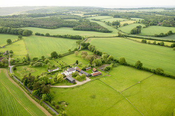 Aerial view of Buckinghamshire Landscape Wall mural