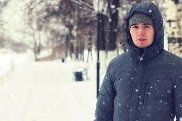 alone men beard winter