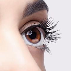 Woman eye make-up