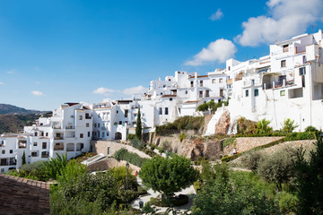 Frigiliana, Andalucia, Spain. October 4th 2017. Frigiliana has been voted the prettiest village in Spain several times.