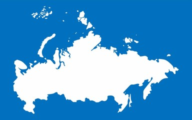 White Russia map on blue background, Vector Illustration
