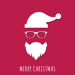 Concept of Santa Claus in Hipster Style. Vector illustration. Modern flat design.