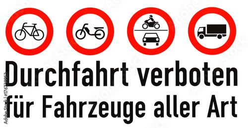 Verkehrsschild wenden verboten