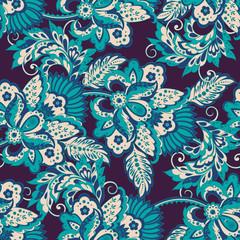 seamless vector pattern. floral vintage background