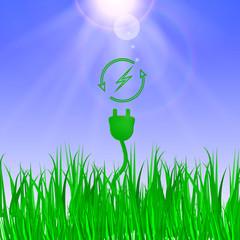 alternative energy. Green energy concept