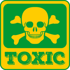 Toxic sign. Skull and crossbones. Vector illustration