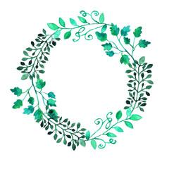 elegant floral wreath