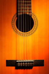 Tuinposter Muziek Acoustic guitar classical strings