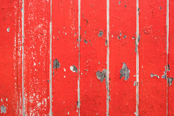 alte rote Holzwand