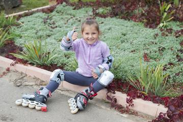 girl on roller skates