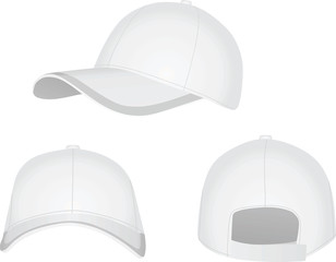 White baseball cap. vector illustration