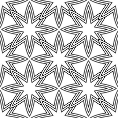Geometric ornament. Black and white seamless pattern