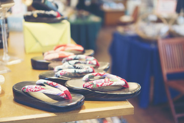 Japanese wooden shoes