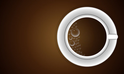 cup with bubbles of coffee